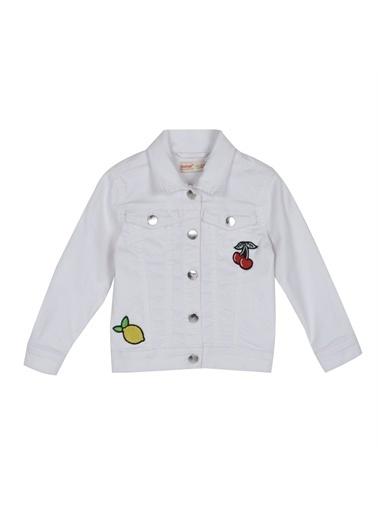 Silversun Kids Kız Çocuk Nakışlı Ceket Ck 215528 Beyaz